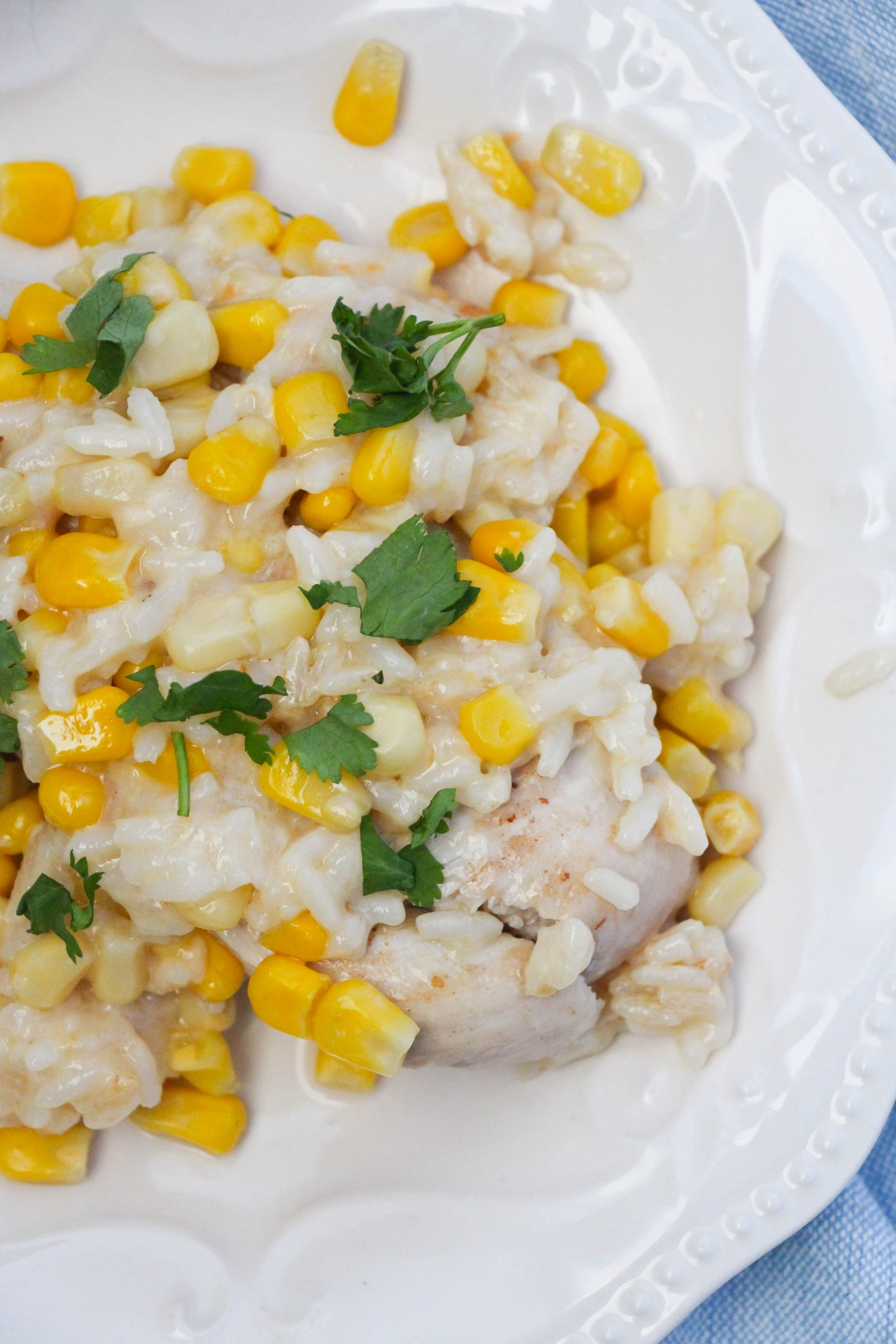 featured image showing the finished chicken and rice recipe