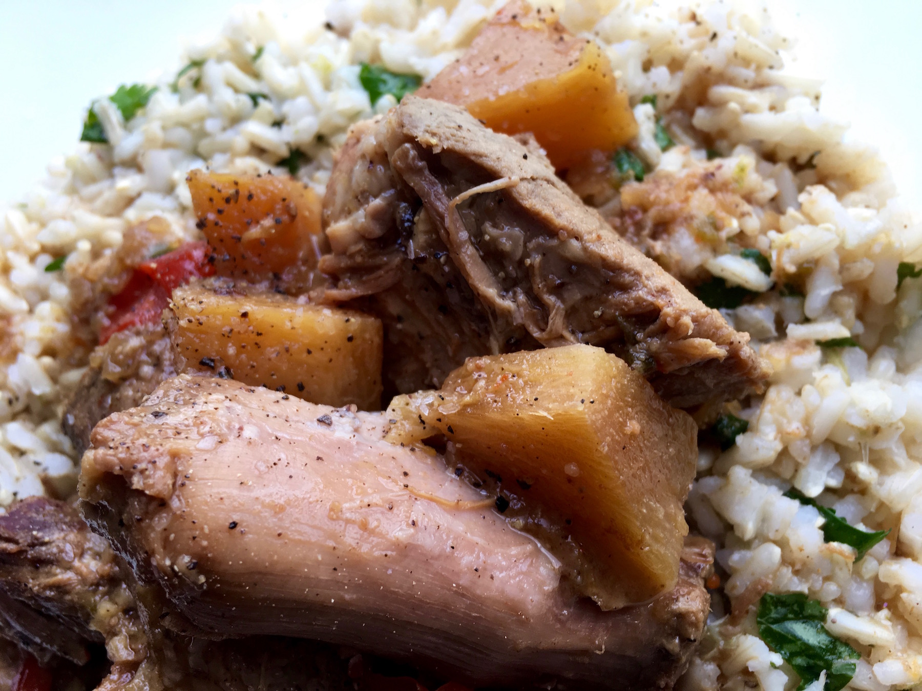 featured image showing the finished Slow cooker Sweet and Sour Pork