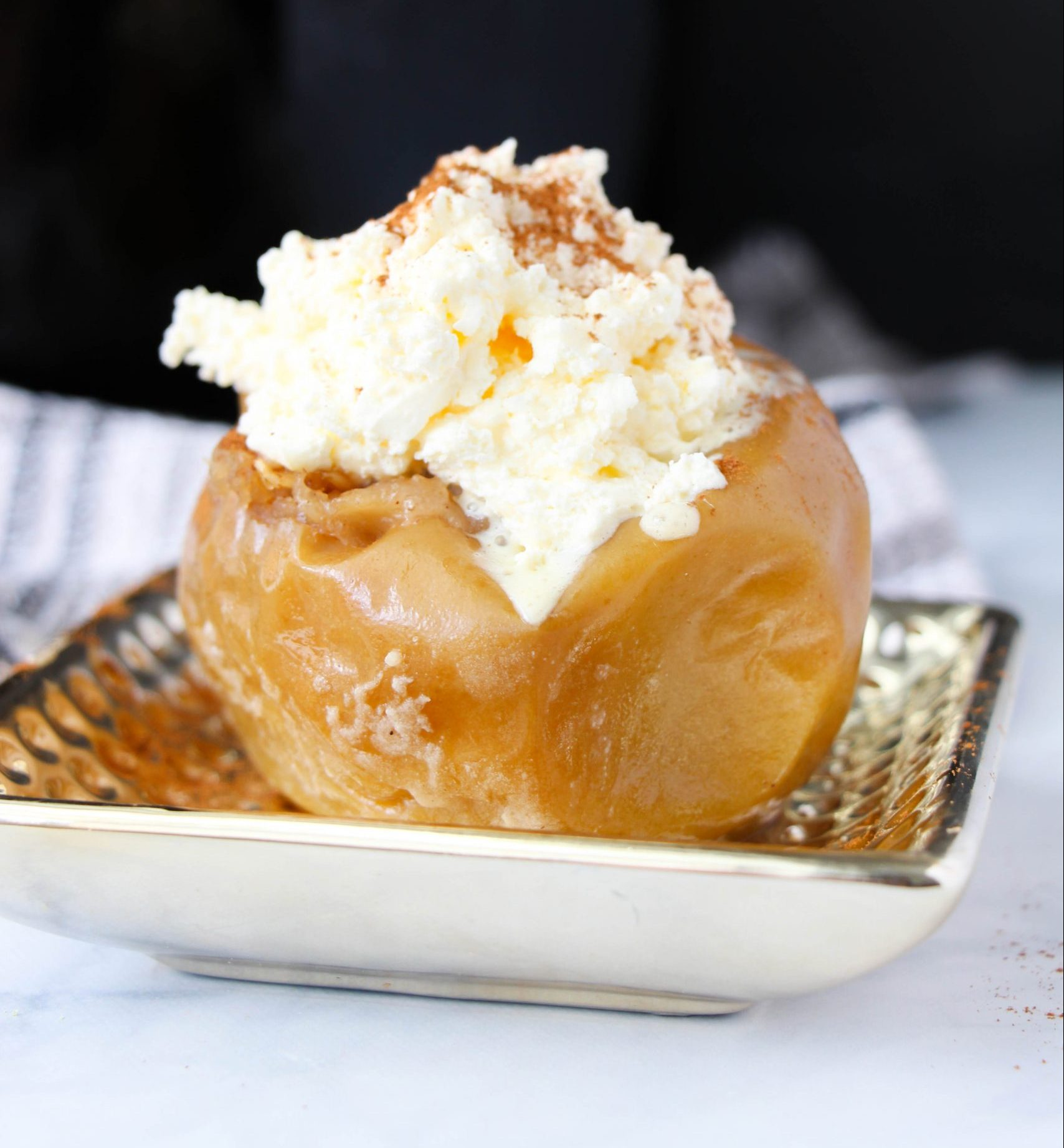 featured image showing the finished Baked Apples Recipe