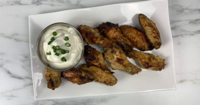 featured image showing garlic parmesan chicken wings