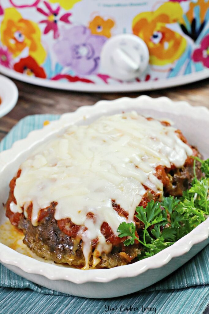 This image shows us the finished full meat loaf.
