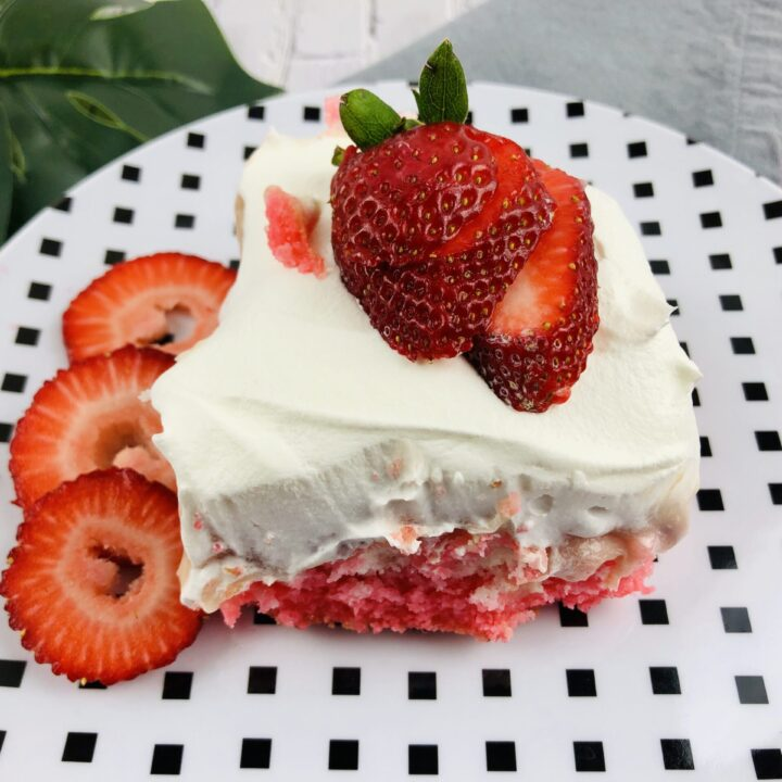 Strawberry Poke Cheesecake