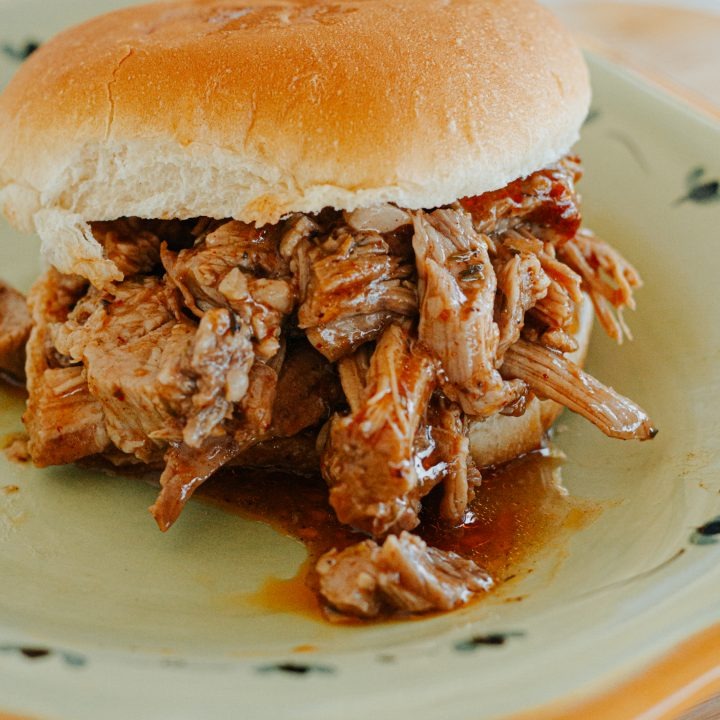 BBQ Pulled Slow Cooked Pork Sandwiches
